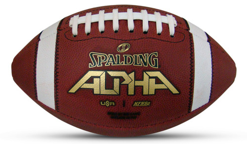 Spalding Alpha Official Full Size Leather Football -2021 USA Version