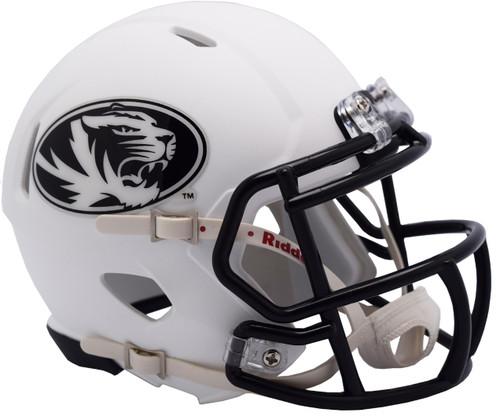 Missouri Tigers Matte White Revolution SPEED Mini Football Helmet