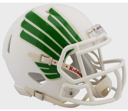 North Texas Mean Green Alternate White NCAA Riddell SPEED Mini Football Helmet