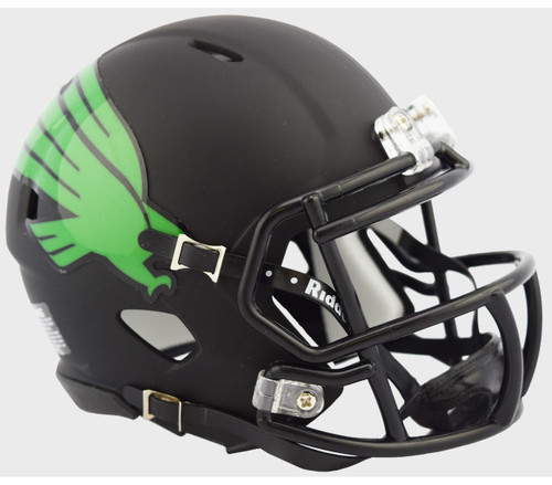 North Texas Mean Green Alternate Black NCAA Riddell SPEED Mini Football Helmet