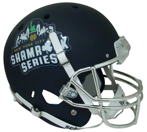 Notre Dame Fighting Irish Alternate Navy 2018 Shamrock Series Schutt Full Size Replica XP Football Helmet