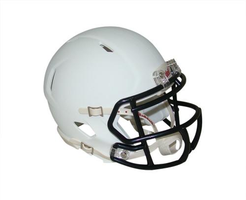 Matte White with Black Mask Blank Riddell Revolution SPEED Mini Football Helmet