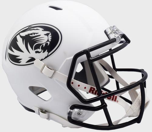 Missouri Tigers White SPEED Riddell Full Size Replica Football Helmet