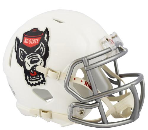 NC North Carolina State Wolfpack Alternate Ice Wolf NCAA Riddell SPEED Mini Football Helmet