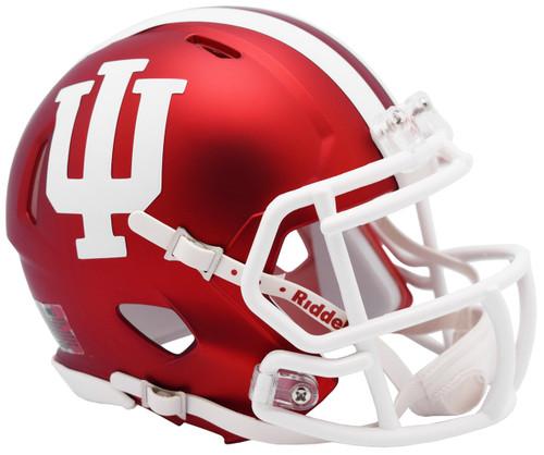 Indiana Hoosiers Alternate Anodized Crimson NCAA Riddell SPEED Mini Football Helmet