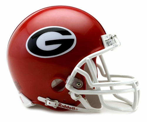 Georgia Bulldogs Riddell Mini Football Helmet with Z2B Mask
