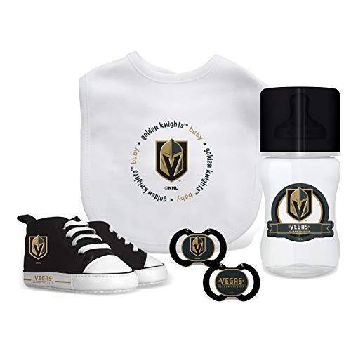 Las Vegas Golden Knights NHL Baby Essentials 5 Piece Newborn Infant Baby Gift Box Set