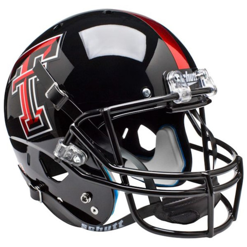 Texas Tech Red Raiders Alternate Chrome Logo Schutt Full Size Replica XP Football Helmet