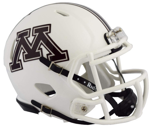 Minnesota Golden Gophers White NCAA Riddell Speed Mini Football Helmet