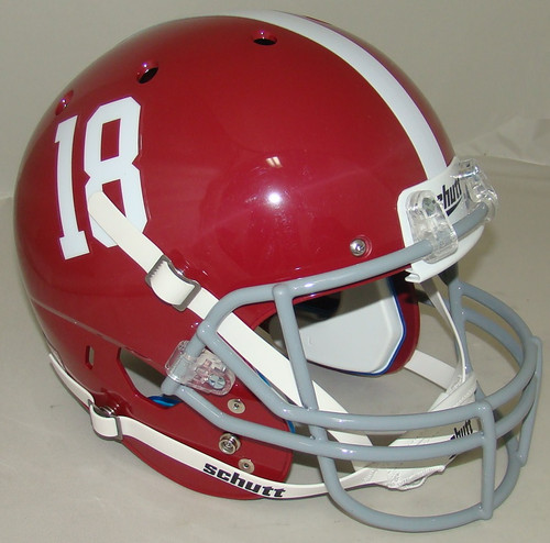 Alabama Crimson Tide #18 Schutt Full Size Replica XP Football Helmet