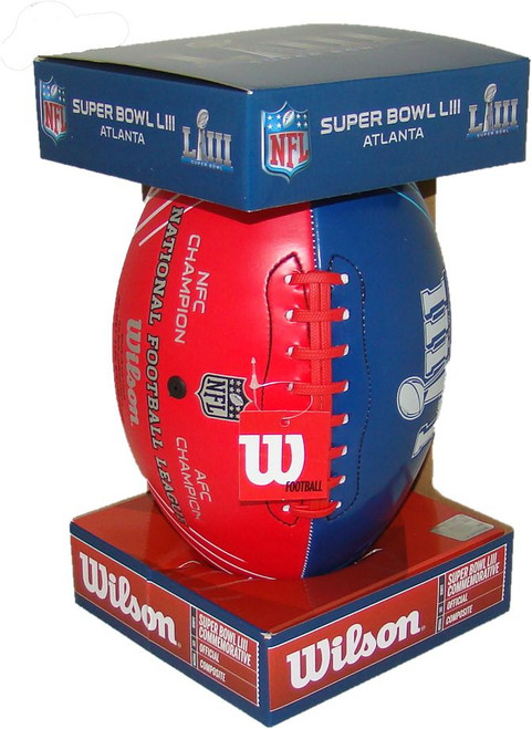 NFL Wilson Official Super Bowl LIII (53) Commemorative Red White & Blue Dueling Football