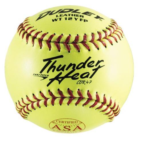 Dudley ASA Thunder Heat Fast Pitch Leather 12-Inch Softballs (Dozen)