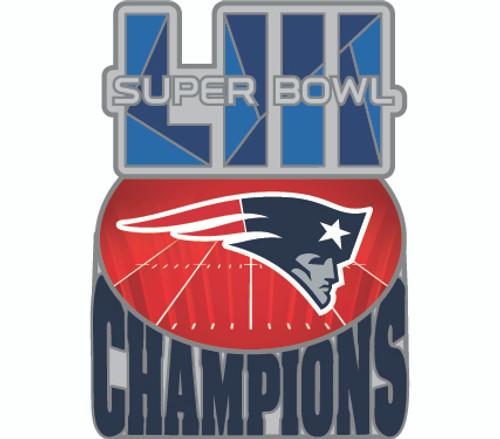 Super Bowl LIII (53) New England Patriots Champions Commemorative Lapel Pin