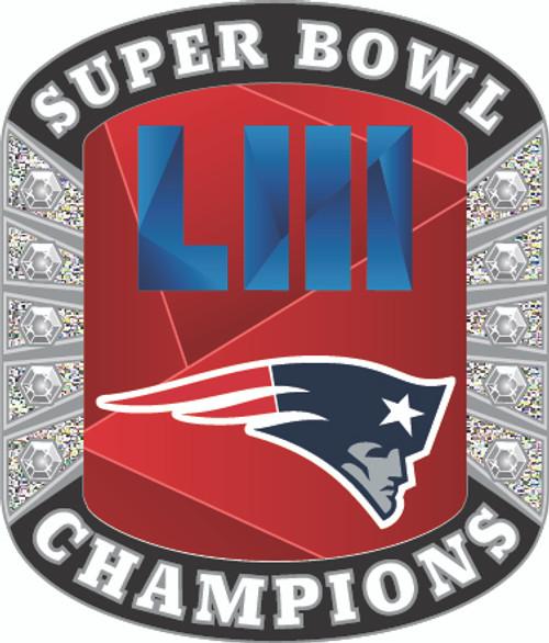 Super Bowl LIII (53) New England Patriots Champions Diamond Lapel Pin