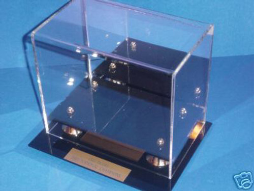 NEW ENGLAND PATRIOTS SUPER BOWL LIII MINI FOOTBALL HELMET DISPLAY CASE