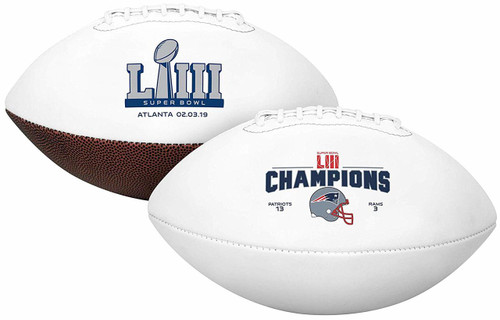 Super Bowl LIII 53 Official Size New England Patriots Championship Football