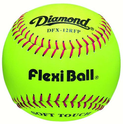 "Diamond DFX-12RFP Leather Soft Touch FlexiBall 12"" Practice Softballs (1 Dozen)"