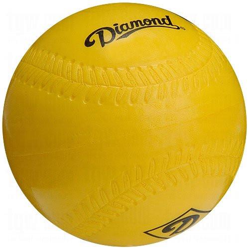 Diamond 12 inch Lightweight Foam Softball Size Practice Softballs (1 Dozen) DFB-12