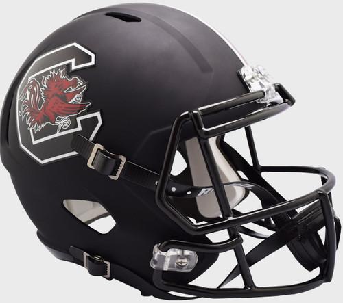 South Carolina Gamecocks Matte Black SPEED Riddell Full Size Replica Football Helmet