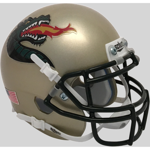UAB Alabama-Birmingham Blazers Alternate Gold Schutt Mini Authentic Football Helmet
