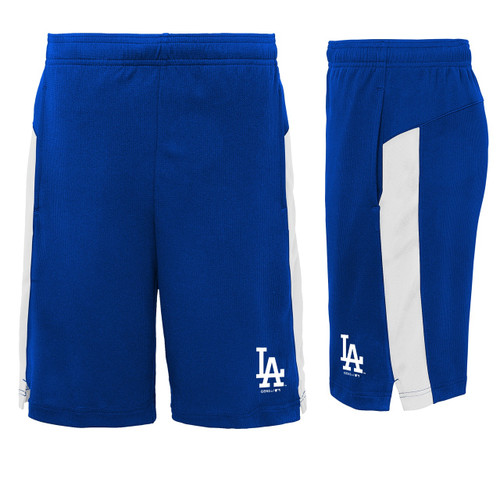 Los Angeles Dodgers Youth Boys Grand Slam Blue Shorts