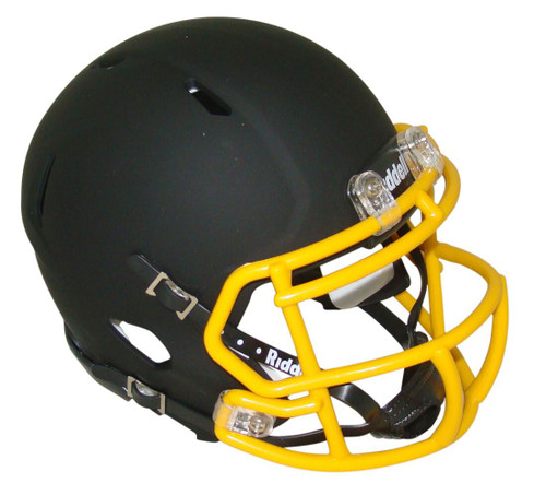 Matte Black with Gold Mask Blank Riddell Revolution SPEED Mini Football Helmet