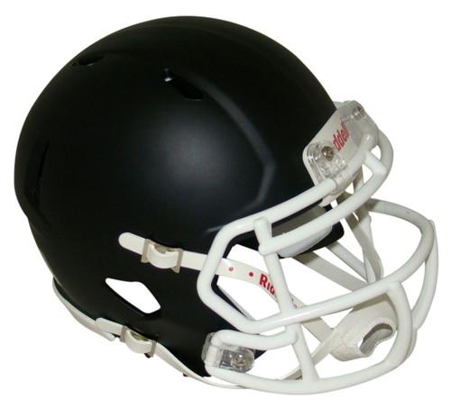 Matte Black with White Mask Blank Riddell Revolution SPEED Mini Football Helmet