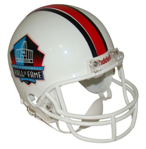 NFL Hall of Fame Riddell Mini Football Helmet with White Mask