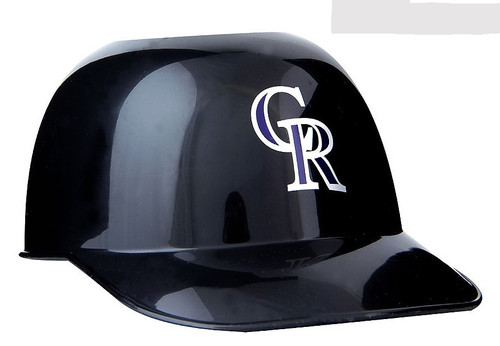 Colorado Rockies MLB 8oz Snack Size / Ice Cream Mini Baseball Helmets - Quantity 6