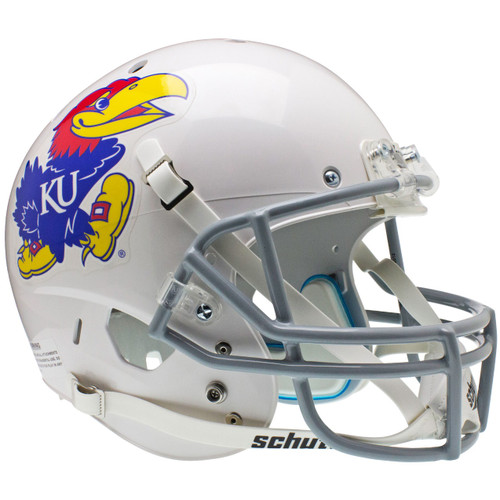 Kansas Jayhawks Alternate White Schutt Full Size Replica XP Football Helmet