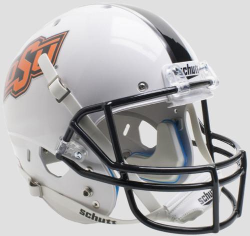 Oklahoma State Cowboys White with Chrome OSU logo Schutt Full Size Replica XP Football Helmet