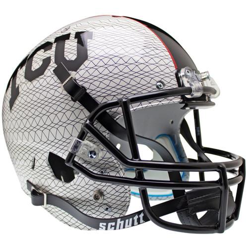 TCU Texas Christian Horned Frogs Alternate White Schutt Full Size Replica XP Football Helmet