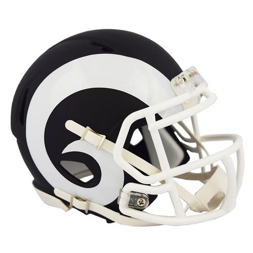 Riddell Los Angeles Rams Black Matte Alternate Speed Mini Football Helmet