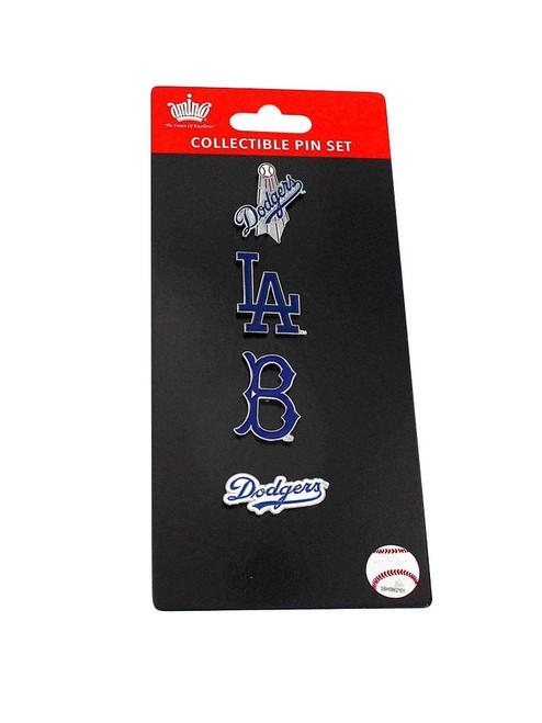 Los Angeles Dodgers Logo MLB Baseball Evolution 4 Piece Lapel Pin Set