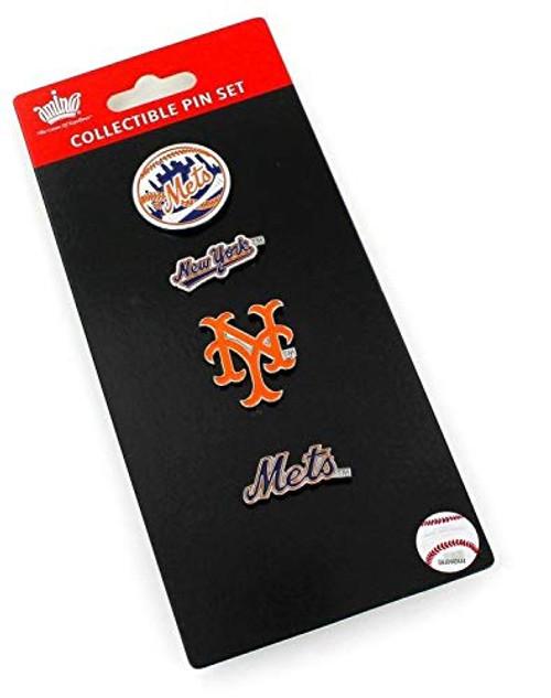 New York Mets Logo MLB Baseball Evolution 4 Piece Lapel Pin Set