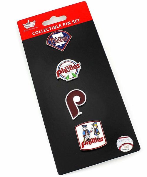 Philadelphia Phillies Logo MLB Baseball Evolution 4 Piece Lapel Pin Set
