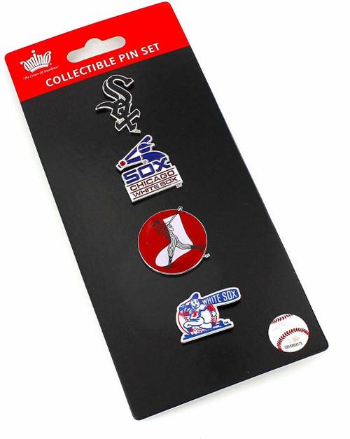 Chicago White Sox Logo MLB Baseball Evolution 4 Piece Lapel Pin Set