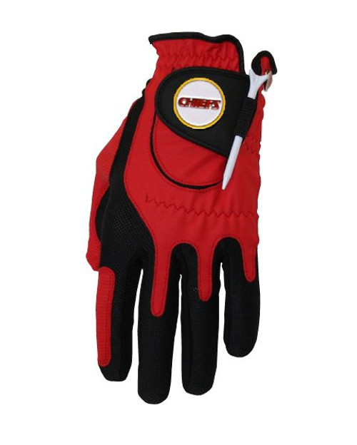 Zero Friction NFL Kansas City Chiefs Red Golf Glove, Left Hand