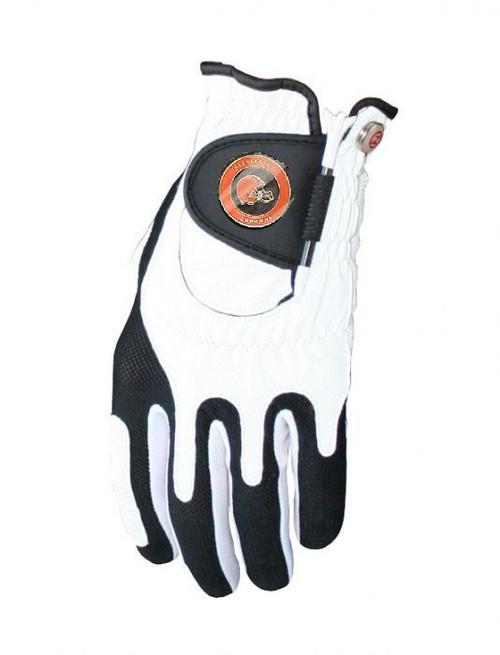 Zero Friction NFL Cleveland Browns White Golf Glove, Left Hand