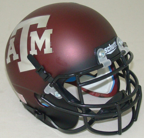 Texas A&M Aggies Alternate Chrome Schutt Mini Authentic Football Helmet