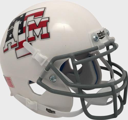 Texas A&M Aggies Alternate Stars & Stripes Flag Schutt Mini Authentic Football Helmet
