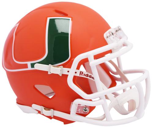 Miami Hurricanes AMP Alternate NCAA Riddell SPEED Mini Football Helmet