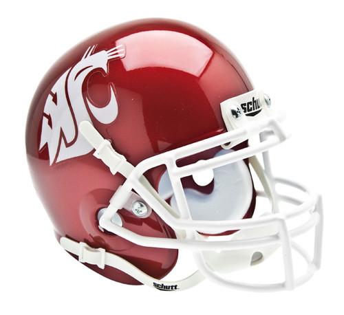 Washington State Cougars Alternate Red Schutt Mini Authentic Helmet
