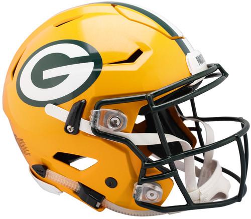 Green Bay Packers NEW SpeedFlex Riddell Full Size Authentic Football Helmet - Speed Flex