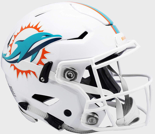 Miami Dolphins NEW SpeedFlex Riddell Full Size Authentic Football Helmet - Speed Flex