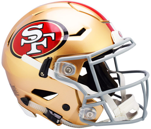 San Francisco 49ers NEW SpeedFlex Riddell Full Size Authentic Football Helmet - Speed Flex