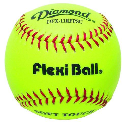 Diamond 11-Inch Fastpitch FlexiBall Softballs (Dozen) DFX-11RFPSC