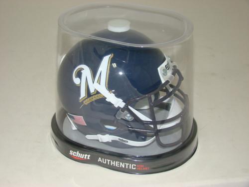 Milwaukee Brewers Schutt MLB Mini FOOTBALL Helmet
