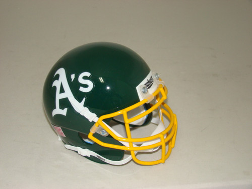 Oakland A's Athletics Schutt MLB Mini FOOTBALL Helmet