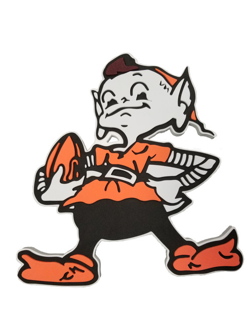 Cleveland Browns - Elf - 3D Fan Foam Logo Sign